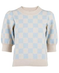 Neo Noir Abi Chess Knit - Bleu