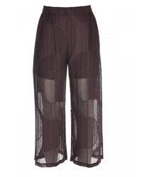 Issey Miyake Pantalone Pleats Please Pp16Jf253 - Marron