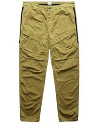 C.P. Company Satin Cargo Trousers With Side Waistbands - Groen