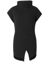 The Row Asymmetric Sweater - Zwart
