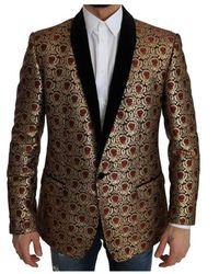 Dolce & Gabbana Jacquard Martini Baroque Blazer - Zwart