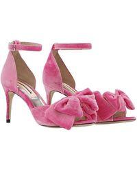 Custommade• Marita Velvet sandals - Rosa
