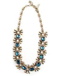 Oscar De La Renta Vintage Collier de pierres précieuses - Bleu