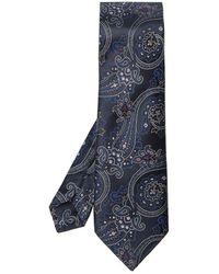 Etro Silk Tie - Blauw