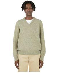 Lemaire V-neck Sweater - Groen