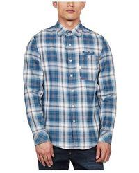 Zimmermann Shirt Button Down Slim Fit Plaid - Wit
