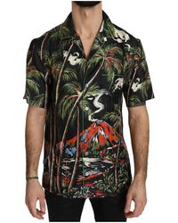 Dolce & Gabbana - Shortsleeve Silk Jungle Volcano - Lyst