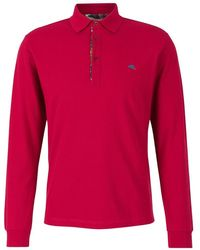 Etro Polo Shirt With Long Sleeves - Rood
