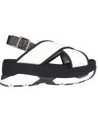 Marni Wedge Sandals - Zwart