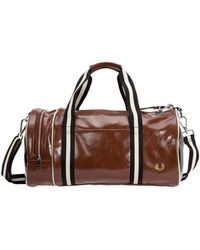 Fred Perry Fitness gym sports shoulder bag - Marrón