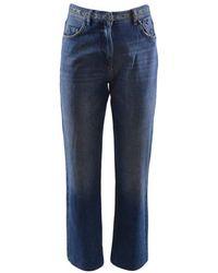 Patrizia Pepe Het Dragen Van Jeans Met Riem - Blauw