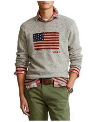 Polo Ralph Lauren Long Sleeve Pullover - Grijs