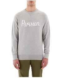 Maison Kitsuné Parisien Print Sweatshirt - Grijs
