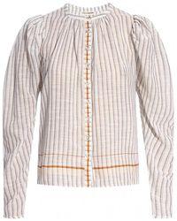 Ulla Johnson Pinstriped Shirt - Grijs