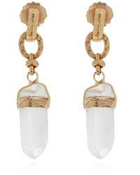 Gas Bijoux 'cristal' Drop Earrings - Naturel