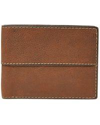 Fossil SML1067210 Portemonnaie Wallet Geldbörse Brieftasche Leder braun
