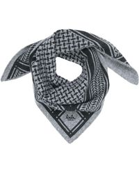 Lala Berlin Cashmere Scarf Triangle Trinity Classic - Gris