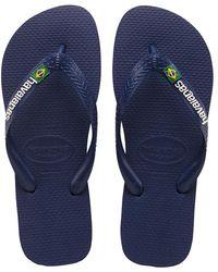 Havaianas Kids Flipflops Brasil Logo - Blauw