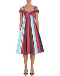 Paule Ka Striped Dress - Rosa