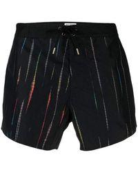 Saint Laurent Shorts De Bain - Zwart