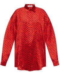 Balenciaga Silk Shirt - Rood