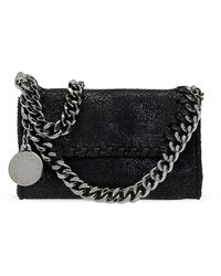 Stella McCartney Falabella Shoulder Bag With Logo - Zwart