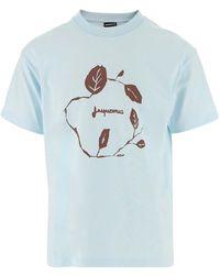 Jacquemus T-shirt Met Logo - Blauw