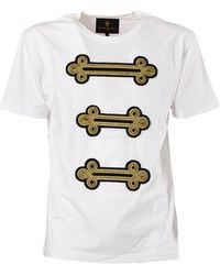 Lords & Fools T-Shirt With Applications - Weiß