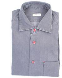 Kiton Shirt Mark60301 - Gris