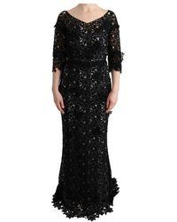 Dolce & Gabbana - Silk Floral Long Dress - Lyst
