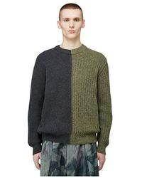 Pringle of Scotland Repurposed Split Sweater - Grün