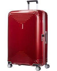 Samsonite - Neopulse Spinner 75 Cm Metallic Red - Lyst