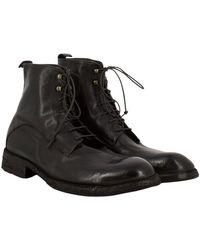 Elia Maurizi Ankle Boots In Soft Ebony Leather - Bruin