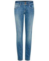 Pulz Jeans Haya Curve Skinny Jeans - Bleu