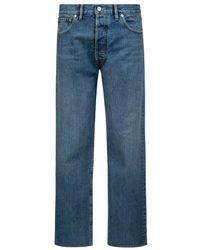 Maison Margiela Cropped-jeans Mit Vintage-waschung - Blauw