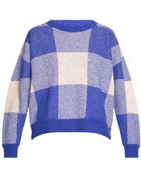 Holzweiler Patterned Sweater - Blauw