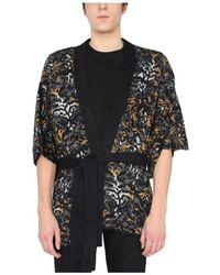 Saint Laurent - Jacquard Knit Kimono - Lyst