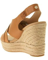 UGG Claudeene - sandal with wedge Marrón