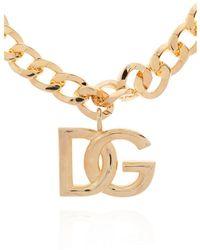 Dolce & Gabbana Logo chain Amarillo