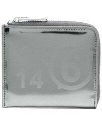 Maison Margiela Small Zip Around Wallet - Grijs