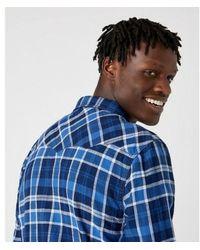 Wrangler Camisa Cuadros Azul