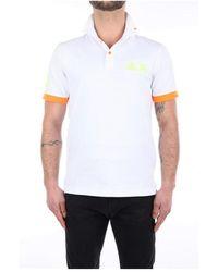 Sun 68 A31120 Short Sleeve Polo - Wit