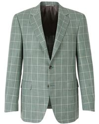 Canali - Two-button Checked Blazer - Lyst