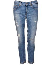 Dondup Monroe Crop Jeans - Blauw