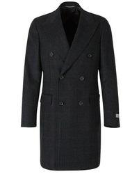 Canali Cashmere Cross coat - Blu