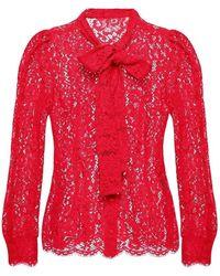 Dolce & Gabbana - Self-tie openwork shirt - Lyst