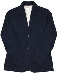 Universal Works Two Button Jacket - Blau