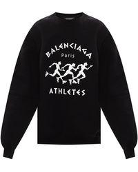Balenciaga Sweatshirt Met Logo - Zwart