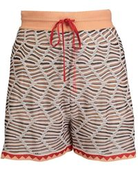 M Missoni Shorts Vita Alta - Naturel