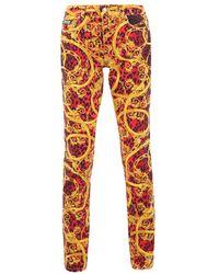 Versace Jeans Printed Denim Jeans - Rood